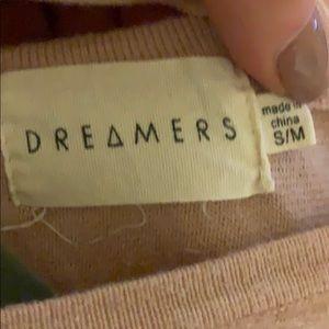Dreamers Sweaters - Pink open back sweater
